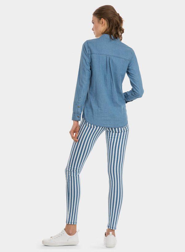 Camisa de ganga clara para mulher da Tiffosi