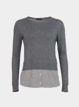 Camisola cinza combinada para mulher da Tiffosi