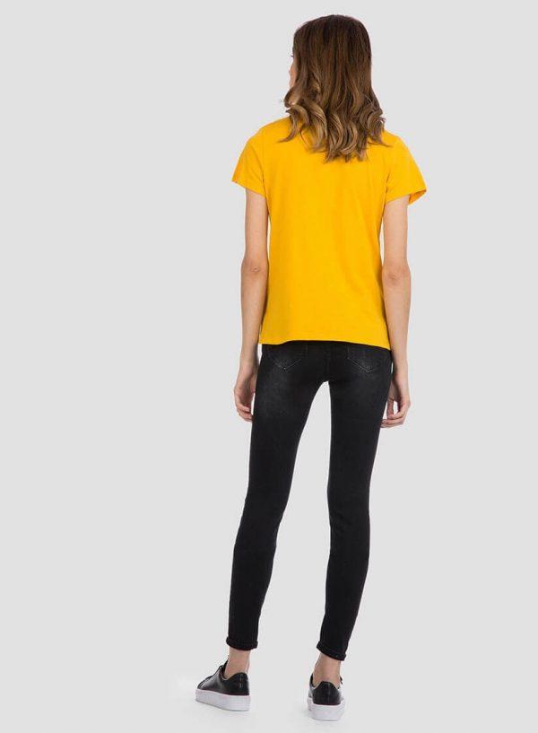 T´shirt amarela com texto e pérolas para mulher da Tiffosi