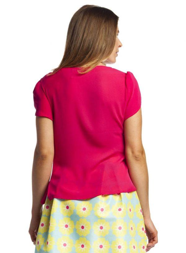 Blusa fúcsia com capas para mulher da Rosalita Mc Gee