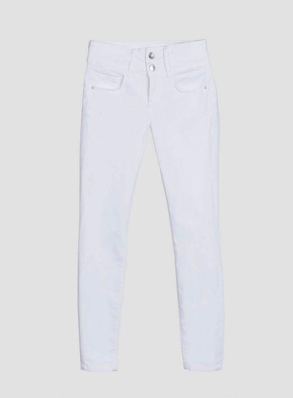 Calças sarja double up brancas para mulher da Tiffosi