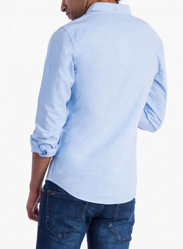 Camisa básica azul para homem da Tiffosi
