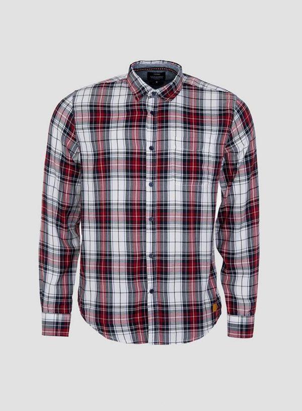 Camisa regular fit de xadrez para homem da Tiffosi