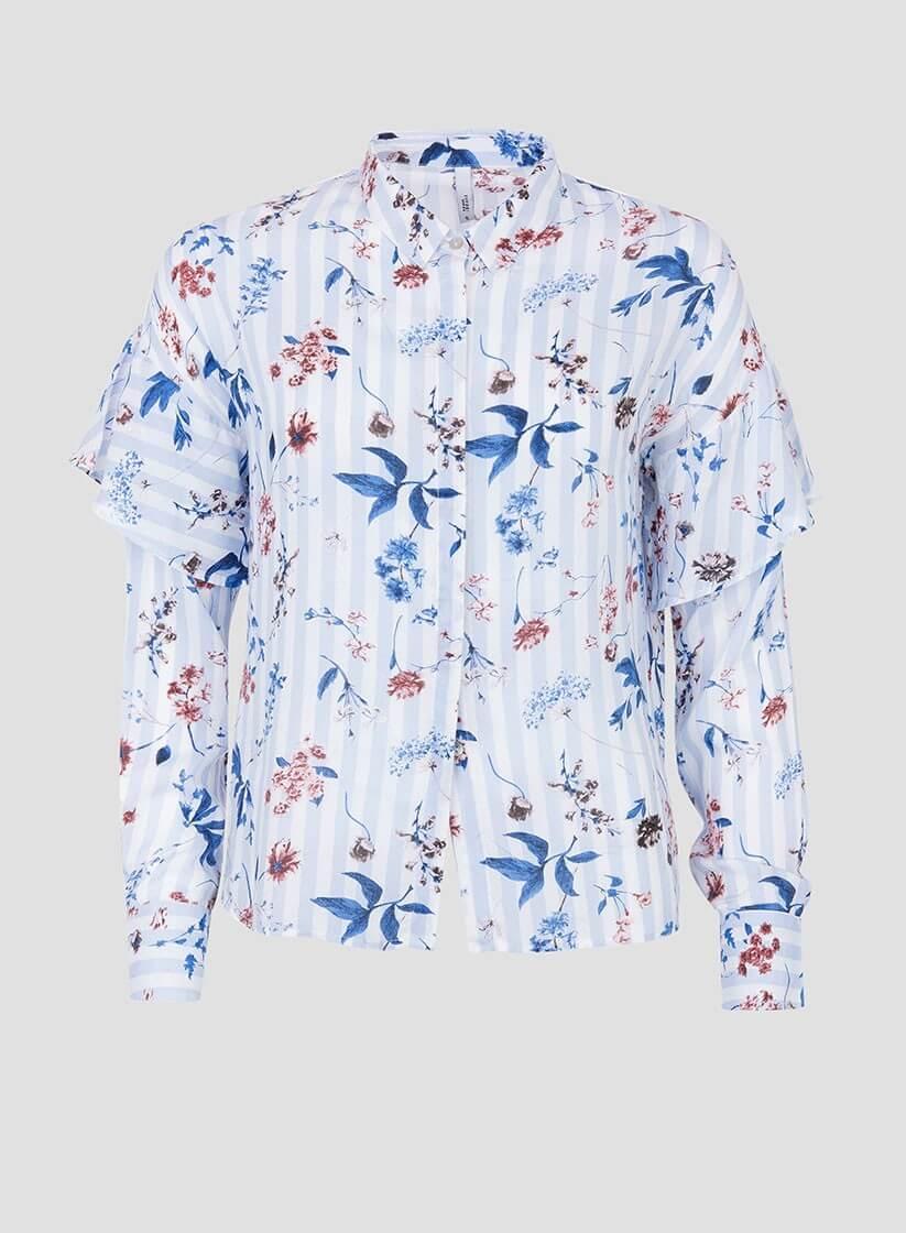 0cfcaf0c92 ... Camisa print floral risca com folho da Tiffosi ...