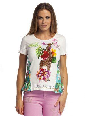 T´shirt com print selva para mulher da Rosalita Mc Gee