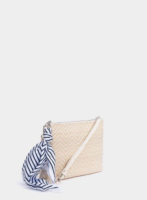 Mala de mão e a tira-colo com lenço da Tiffosi