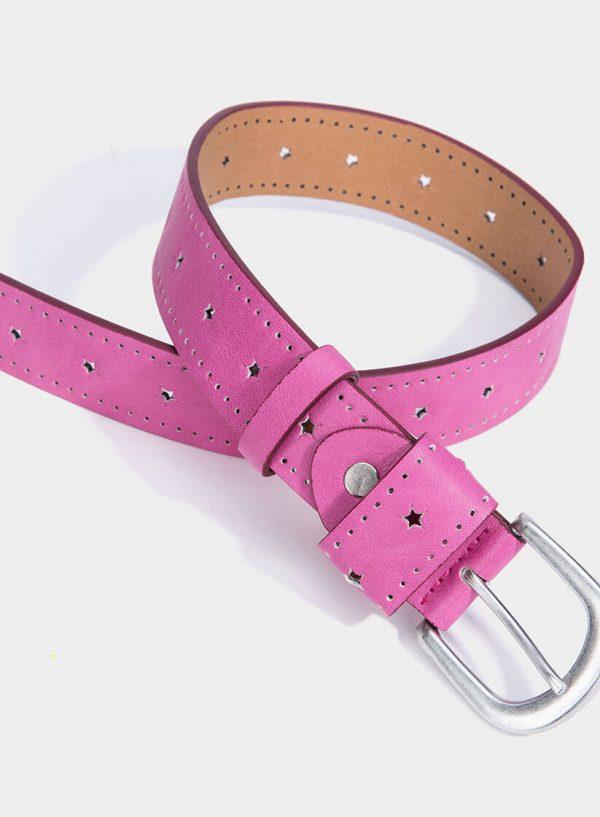 Cinto rosa com estrelas perfuradas para mulher da Tiffosi