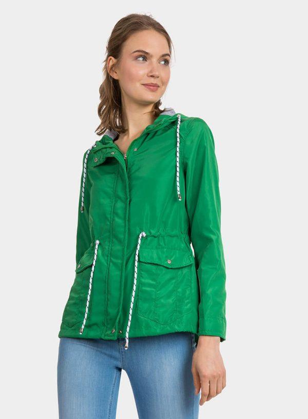Parka verde com capuz e cordões para mulher da Tiffosi
