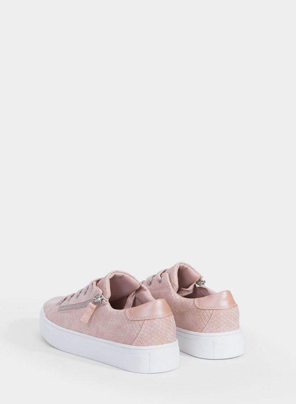 Sapatilhas rosa com fecho metálico da Tiffosi