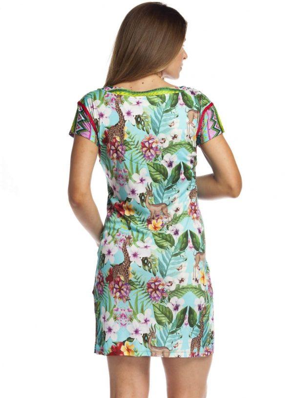 Vestido com print selva da Rosalita Mc Gee