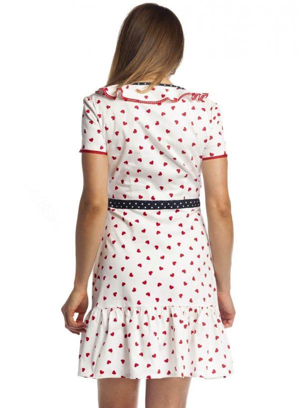 Vestido de corações com folhos da Rosalita Mc Gee