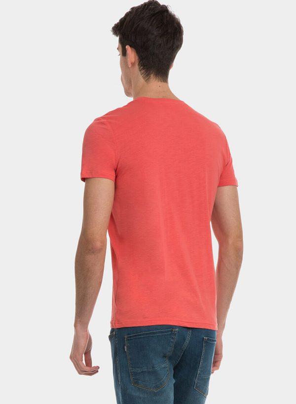 T-shirt coral com texto para homem da Tiffosi