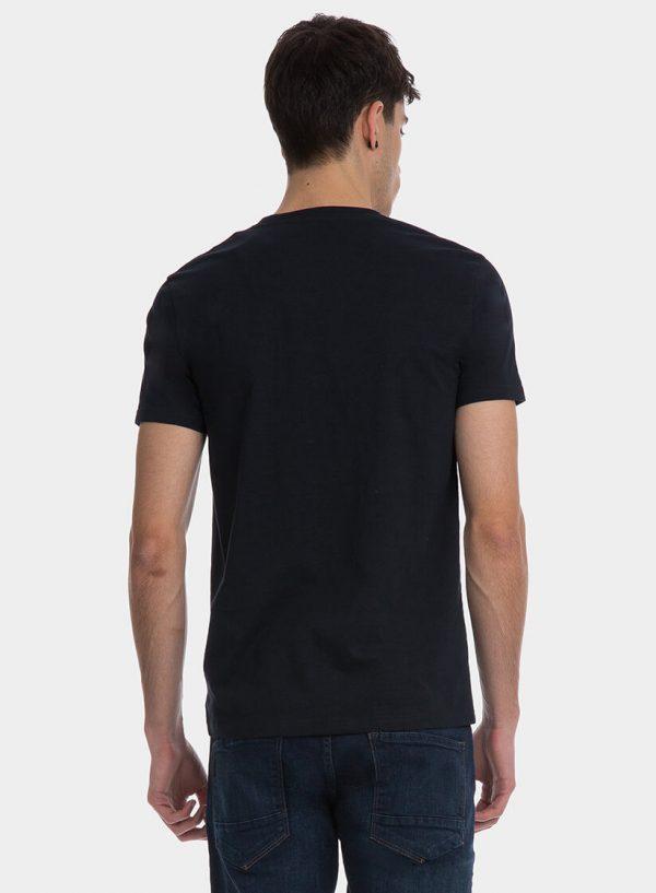 T-shirt azul marino com texto para homem da Tiffosi