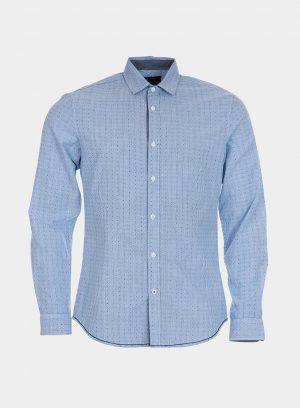 Camisa slim fit micro estampado para homem da Tiffosi