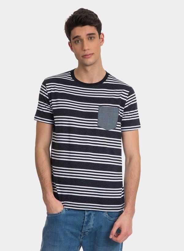 T-shirt às riscas com bolso para homem da Tiffosi