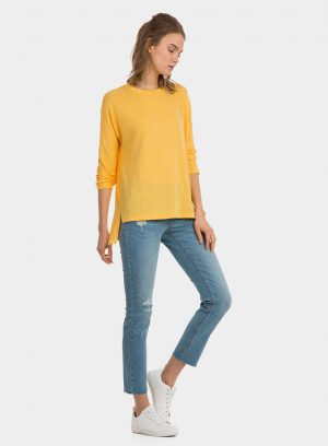 Camisola amarela assimétrica para mulher da Tiffosi