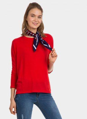 Camisola vermelha assimétrica para mulher da Tiffosi