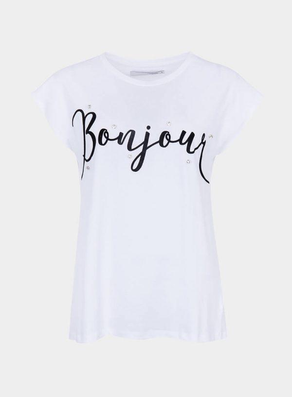 T-shirt branca com brilhantes para mulher da Tiffosi