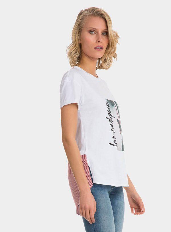 T-shirt combinada com riscas na costa para mulher da Tiffosi