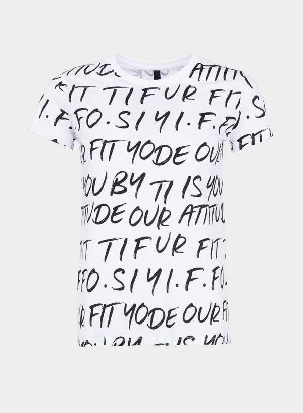 T-shirt branca logomania para mulher da Tiffosi