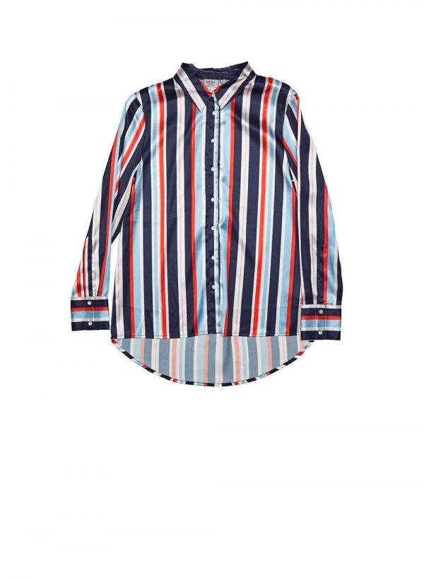 Camisa às riscas coloridas para mulher da Md`m
