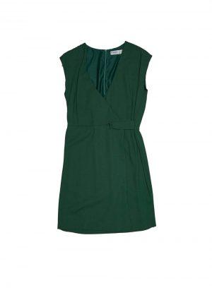 Vestido traçado em verde garrafa da Md`m