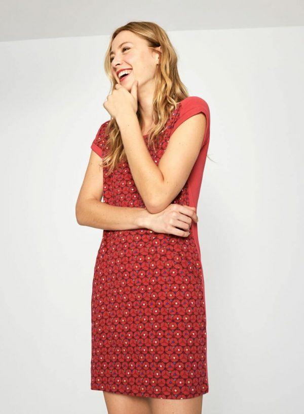 Vestido vermelho de malha com bolso da Surkana