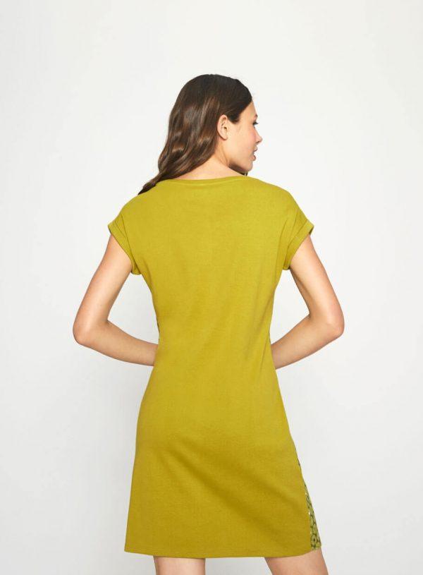 Vestido verde de malha com bolso da Surkana