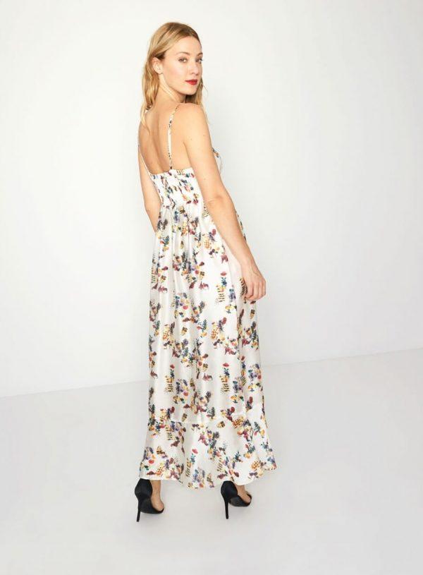 Vestido comprido com print floral