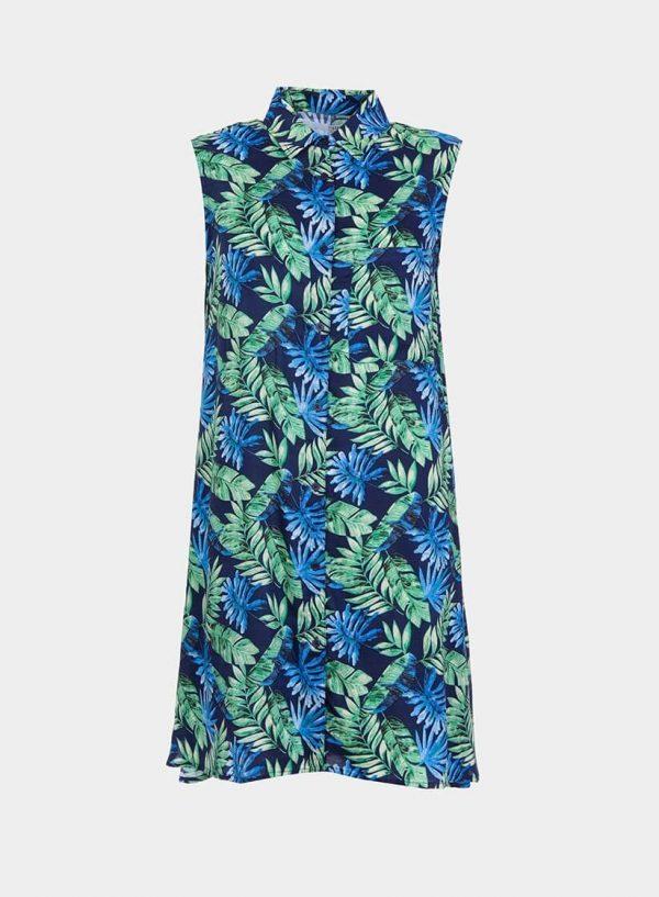 Vestido cavas com print folhas da Tiffosi
