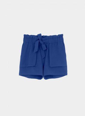 Calção azulão com bolsos grandes para mulher da Tiffosi