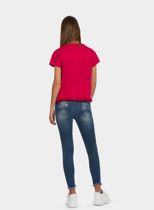 T-shirt com franjas para mulher da Tiffosi