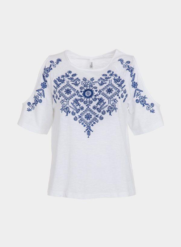 Camisola branca com bordado para mulher da Tiffosi