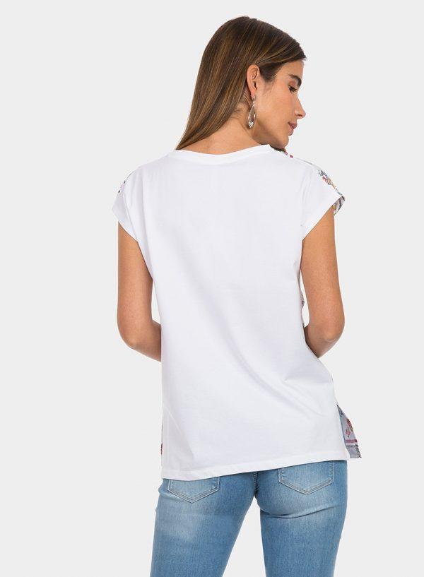 T-shirt estampada com decote em bico para mulher da Tiffosi