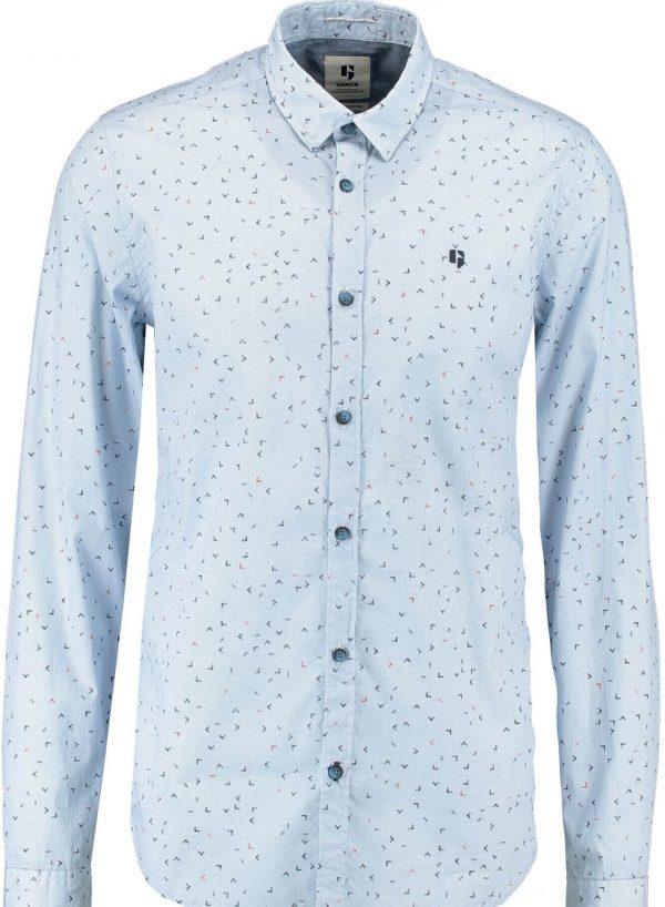 Camisa azul com print para homem da Garcia Jeans