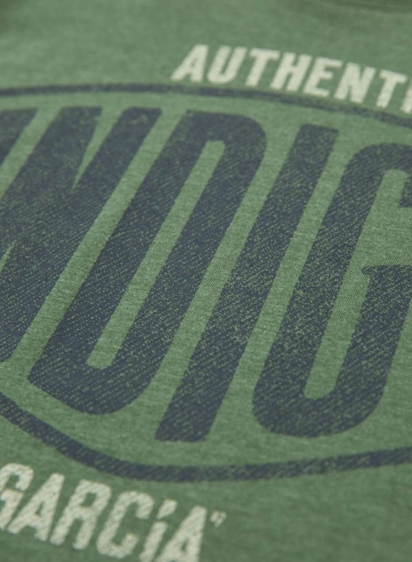 T-shirt verde com estampa para homem da Garcia Jeans