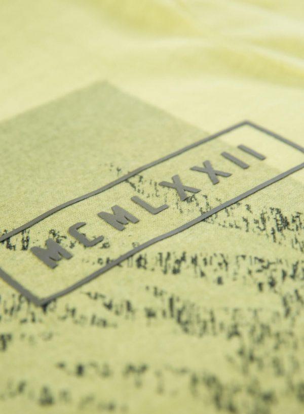 T-shirt amarela com print frontal para homem da Garcia Jeans