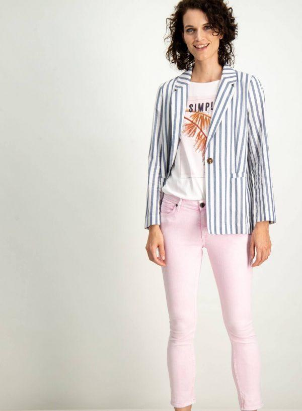 T-shirt branca com estampa floral para mulher da Garcia Jeans
