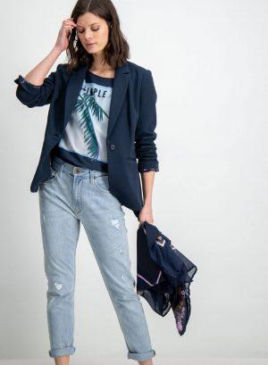 Blazer azul escuro para mulher da Garcia Jeans