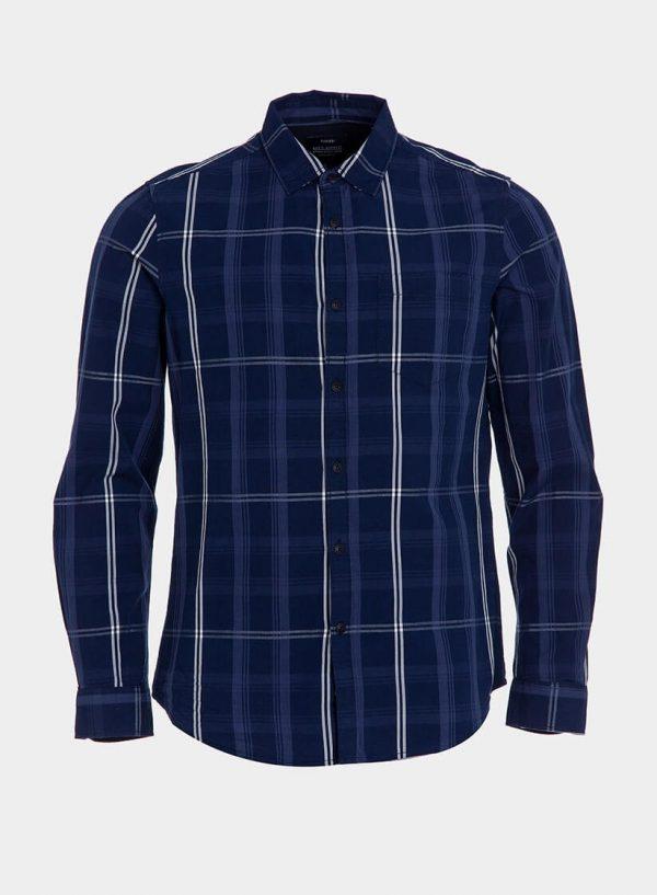 Camisa regular fit xadrez azul para homem da Tiffosi