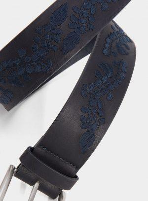 Cinto azul com bordado para mulher da Tiffosi