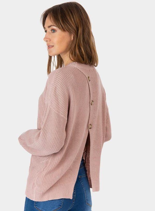 Camisola rosa com três botões na costa para mulher da Tiffosi