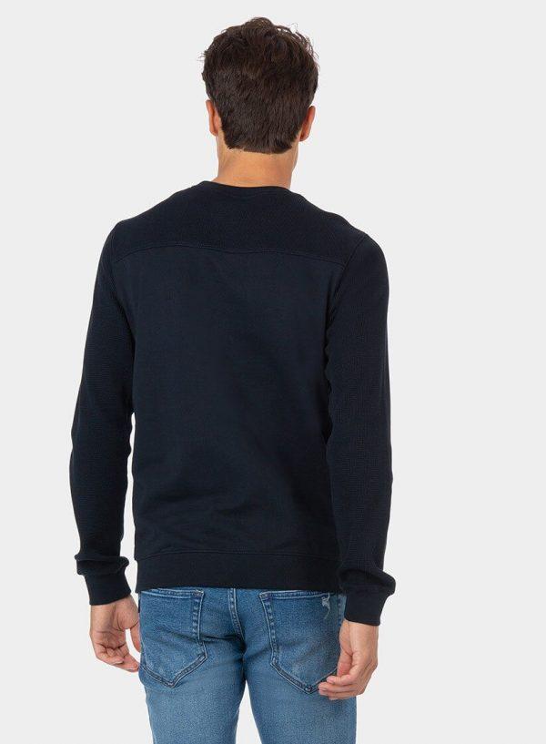 Sweatshirt azul combinada com bolso para homem da Tiffosi