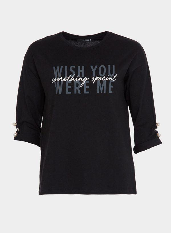 Camisola preta com letras para mulher da Tiffosi
