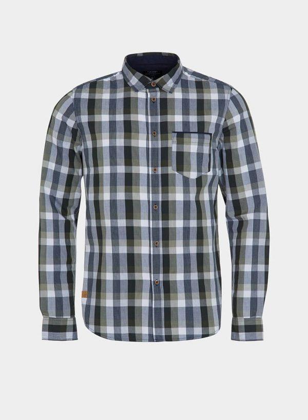 Camisa regular fit xadrez verde para homem da Tiffosi