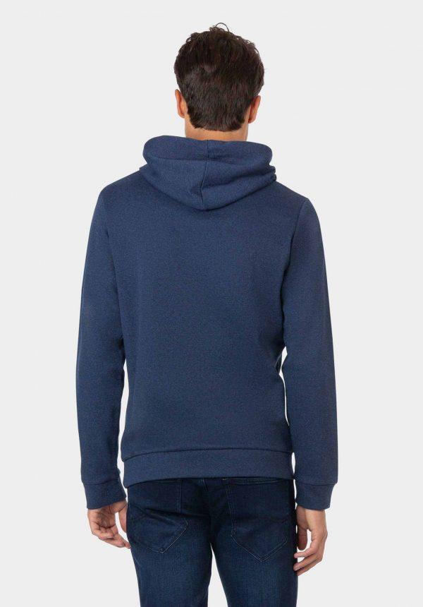 Hoodie azul com lavagem para homem da Tiffosi