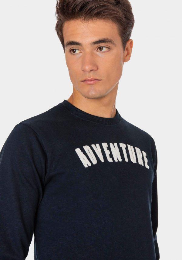 Sweat azul com inscrições salientes para homem da Tiffosi