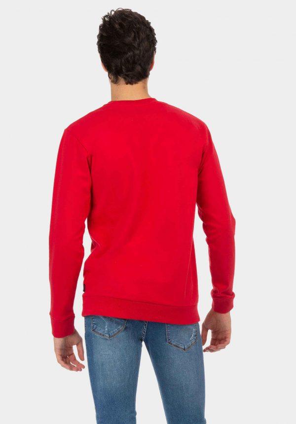 Sweat vermelha com inscrições na frente para homem da Tiffosi