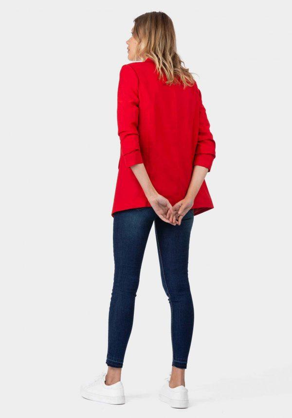 Blazer vermelho sem botão para mulher da Tiffosi
