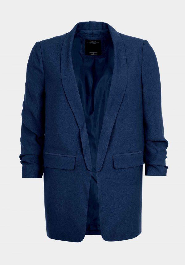 Blazer azul marino sem botão para mulher da Tiffosi
